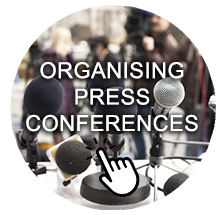 Organising press conferences